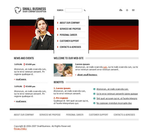 Free Small Business Consulting Solution Website Template  00244 R1PMhRdP