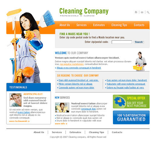 Cleaning Company WordPress Template