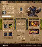 WarCraft Fan Web Template