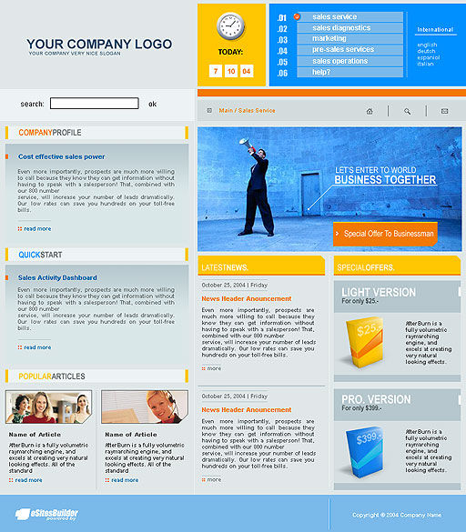 Software Company Web Template #00365