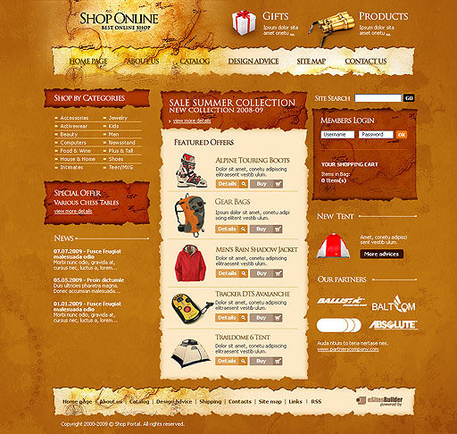 Travel Shop Web Template #00431