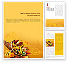 Thanksgiving Word Template #01615 - small preview