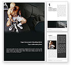 Sports: Weightlifter Word Template #01807