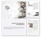 Nature & Environment: Recycle Industry Word Template #01961