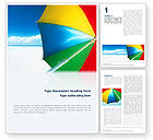 Umbrella on the Beach Word Template #02298 - small preview