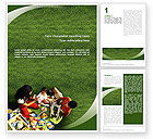 People: Family Picnic Word Template #02364