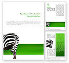Zebra Word Template #02564 - small preview
