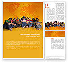 Boy+scouts: Kids On the Orange World Background Word Template #02838