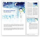 Snowman Word Template #02847 - small preview