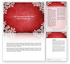 Christmas Theme Word Template #02848 - small preview