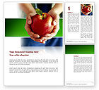 Nature & Environment: Apple In Hands Word Template #02992