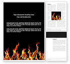 Fire Word Template #03282 - small preview