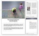 Education & Training: Street Drawings Word Template #03549