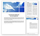 Old+paper: Paper Plane Word Template #03676