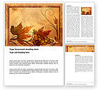 Old+paper: Autumn Theme in Light Brown Word Template #03734