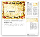 Old+paper: Fanciful Frame Word Template #03746
