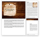 Old Paper Theme Word Template #03789 - small preview
