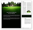 Real+estate+appraisal: Country Estate Word Template #03792
