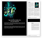 Art & Entertainment: Night City Life Word Template #03856