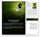 Sports: American Football in School Word Template #03952