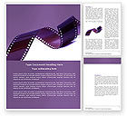 Film Strip In Purple Color Word Template