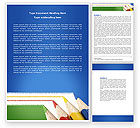 Education & Training: Color Pencils Lines Word Template #04251