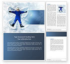 Holiday/Special Occasion: Snow Play Word Template #04399