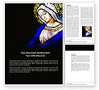 Virgin Mary Word Template #04411 - small preview