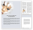 Art & Entertainment: White Feathers Word Template #04436