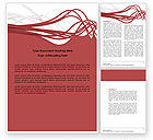 Abstract Swirls Word Template