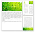 Green Water Drops Word Template