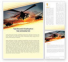 Military: Attack Helicopter Word Template #05247
