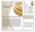 Pancakes Word Template #05343 - small preview