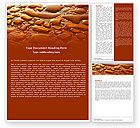 Abstract/Textures: Free Water Drops On A Brown Background Word Template #05884