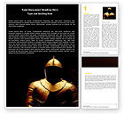 Education & Training: Knight Armour Word Template #05971