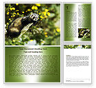 Agriculture and Animals: Free Polecat Word Template #06239