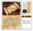 Ancient Scroll Word Template #06539 - small preview
