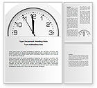 Business: Free Seconds Before Noon Word Template #06628