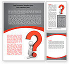 Question+and+answer: Question Mark Word Template #06651