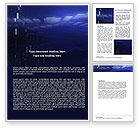 Abstract Blue Space Word Template