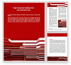 Abstract Red Word Template