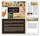 Agriculture and Animals: Free Lama Word Template #06716