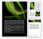 Abstract Spiral Green Word Template