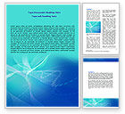 Blue Abstract Veil Word Template