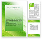 Abstract/Textures: Clean Green Theme Word Template #07021