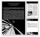 Abstract Parallels Word Template