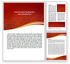 Red Spirals Theme Word Template