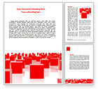 Business: Free Red Cubes Word Template #07567