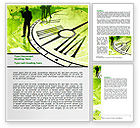 Business: Free Timeline Global Word Template #07694