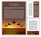 Military: Aircraft Parade Word Template #07701